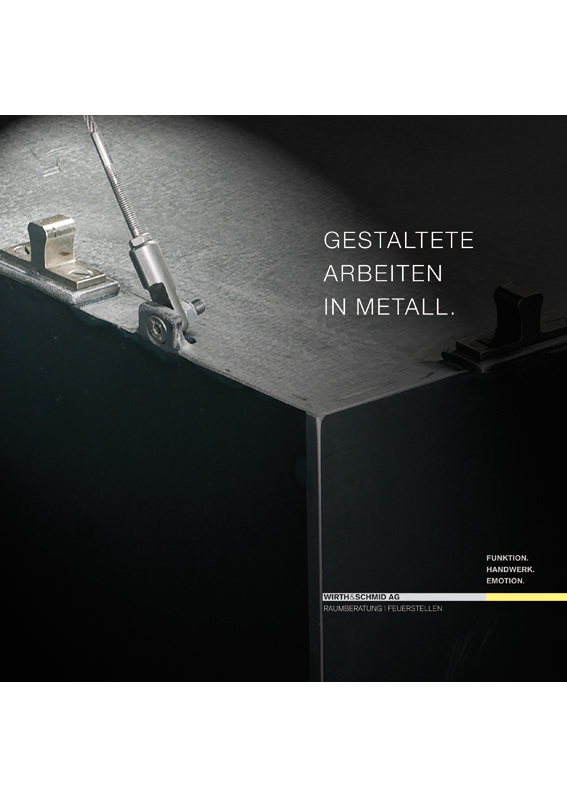 Gestaltete Arbeiten in Metall.