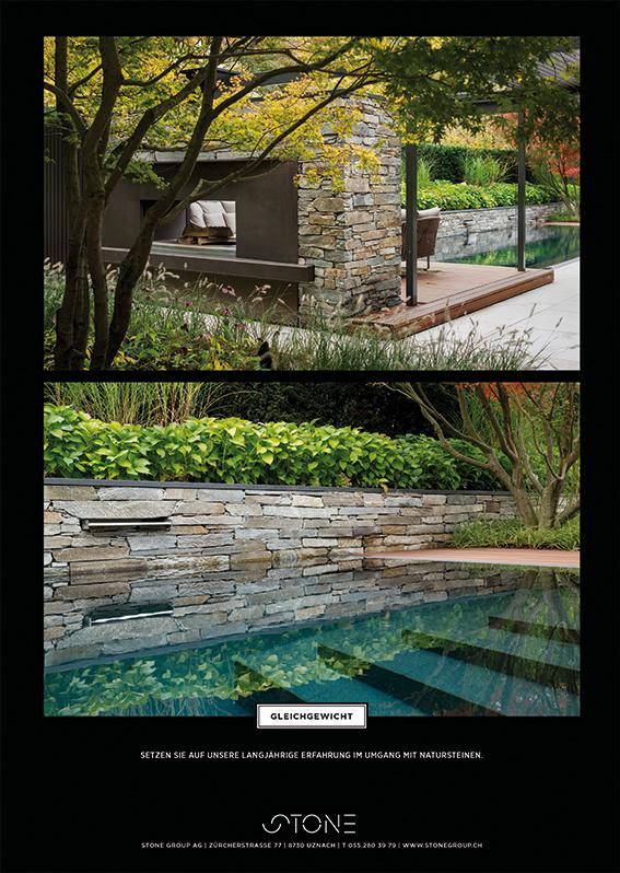 Pool mit Naturstein