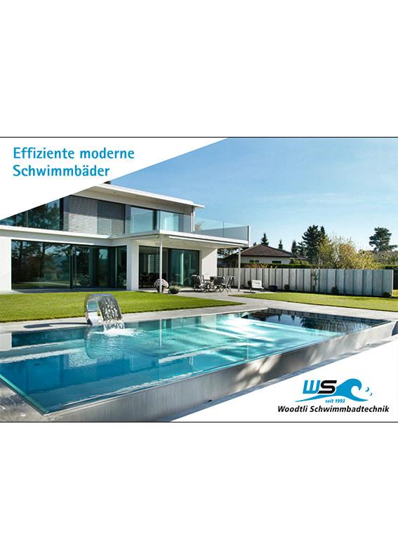 Effiziente moderne Schwimmbäder